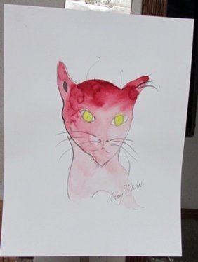 Signed Andy Warhol Watercolor