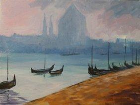 "Original Acrylic On Canvas ""vakitan Harbor"""