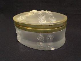 Lalique Art Glass Dresser Box - Coppelia