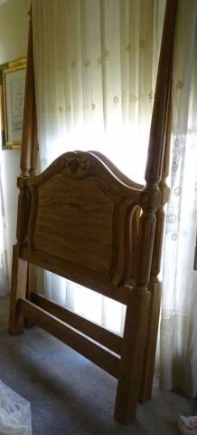Pair French Provincial Carved Twin Headboard