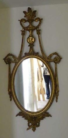 Federal Style Oval Gilt Mirror