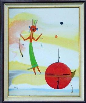 David Chethlahe Paladin Oil Painting Navajo