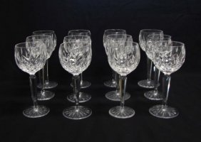 Set 12 Waterford Lismore Wine Hock Glasses