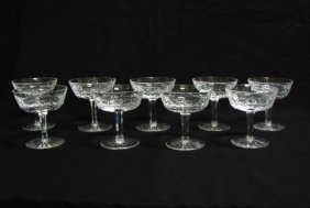 Set Of 12 Waterford Lismore Sherbet Glasses