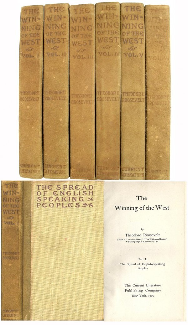 closeout kitchen cabinets theodore roosevelt winning of the west 1905 six vols 13659