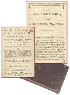 Book Vademecum Clerk's Magazine 1794 First Edition Law