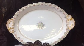 Limoges Platter Triple Marked