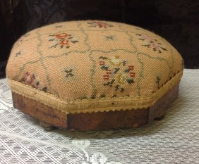 Needle Point Empire Footstool