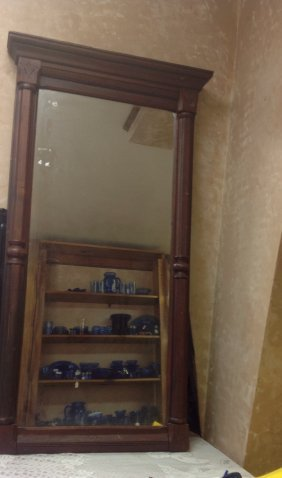 Victorian Eastlake Hanging Hall Mirror