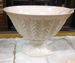 Pink Milk Glass Punch Bowl Set
