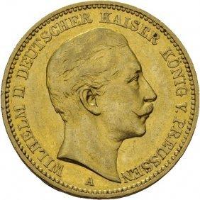 20 Mark 1899, Kaiser Wilhelm Ii Tyskland, Kv.01.