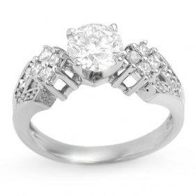 Genuine 1.40 Ctw Diamond Bridal Engagement Ring 18k