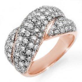 Genuine 2.05 Ctw Diamond Ring 14k Rose Gold -