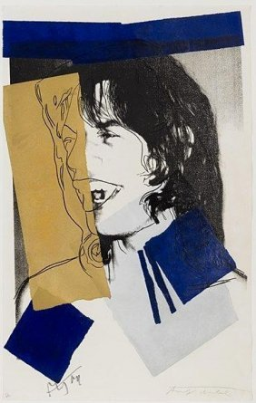 Andy Warhol, Serigraph In Colors, 'mick Jagger', 1975