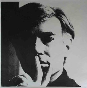 Self-portrait By Andy Warhol, Lithograph, 1966