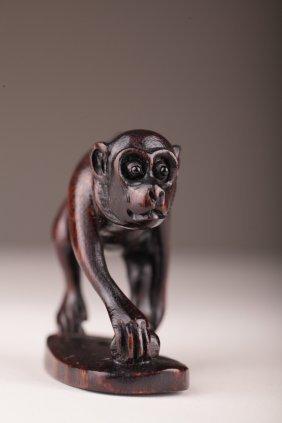 Japanese Boxwood Monkey Netsuke