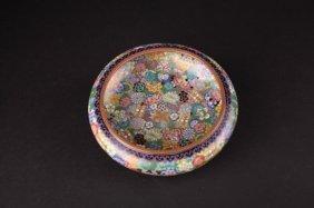 A Chinese Cloisonné Mille Fleur Shallow Bowl