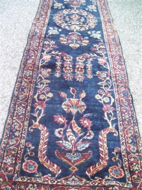 Antique Persian Kerman - Mohajeran Design Runner