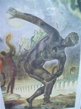 Salvador Dali - A Large The Cosmic Athlete Lithograph