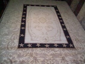 Room Size Nepalese Contemporary Hand Made Rug 9 By 12