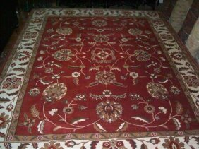 Room Size Indian Handwoven Mahal Rug 9' By 12'