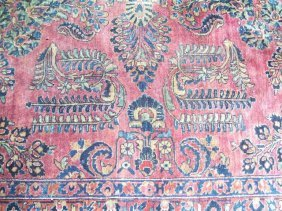 Antique Persian Sarouk Rug 10 By 15