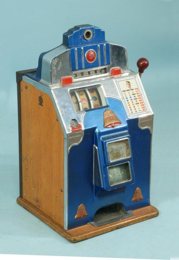vintage 5 cent slot machine