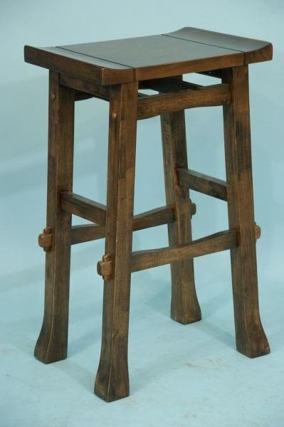 203 Pair Of Arts And Crafts Style Bar Stools Lot 203