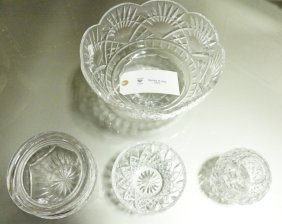 Lot Of Four Waterford Cut Glass Pieces