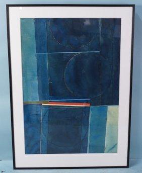"Stan Berning ""7th Planet #7"" Watercolor, 2002"