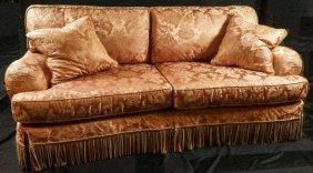 Paul Robert Salmon Silk Brocade Sofa