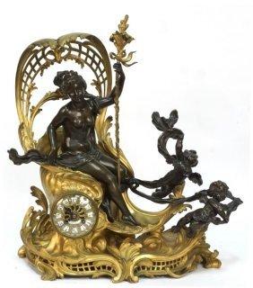 Tiffany & Co. Bronze Mantel Clock