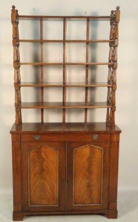 Circa 1820 Sheraton Mahogany Bookcase