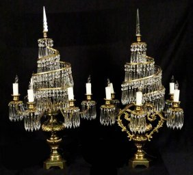 Pair Of 19th Century Russian Candelabra