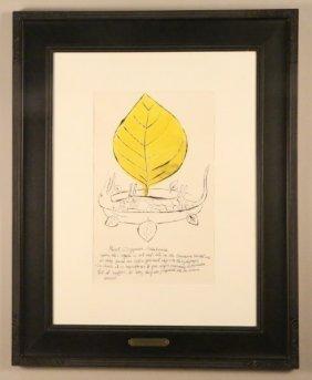 """Andy Warhol """"roast Igyuana Andulusian"""" Litho"""