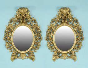 Pair Of 18th Century French Baroque Gilded Mirrors