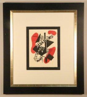 """Fernand Leger """"voici Le Temps Des Assasins"""" Litho"""