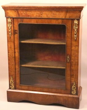 19th Century French Mahogany Inlaid Bookcase