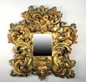 Circa 1600's Italian Carved/gilded Baroque Mirror