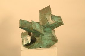 Abstract Panited Bronze Sculpture
