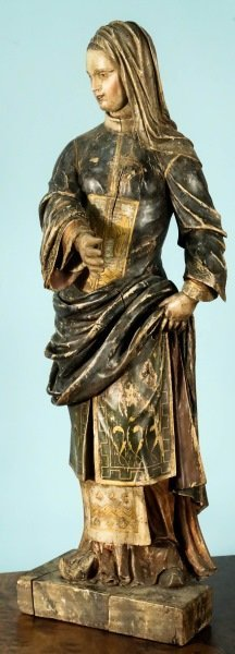 18th/19th Century French Wood Carved Madonna