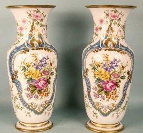 Pair Of French Taste Porcelain Vases
