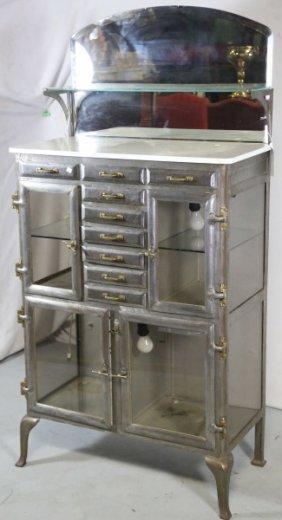 Circa 1900 Mirrored Dental Cabinet