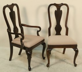 Set Of Eight Drexel Heritage Mahogany Chairs