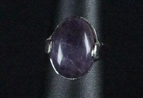 Natural Amethyst Sterling Silver Dinner Ring