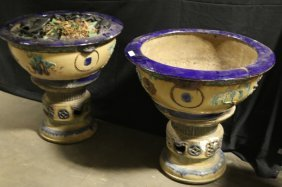 Pair Of 19th Century Monumental Chinese Pots