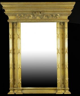 Neoclassical Style Beveled Glass Mirror