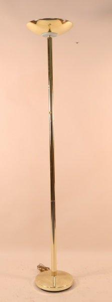 Vintage 1970's Brass Floor Lamp