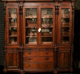 Ralph Lauren Mahogany Weathersby China Cabinet