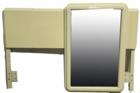 Stanley Furniture White Headboard & White Mirror